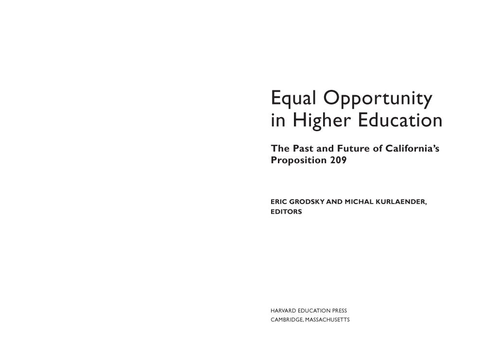 equal opportunity in education essay