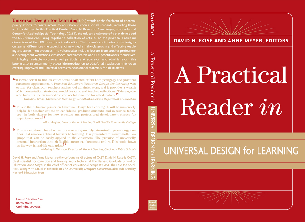 Book Cover Design Education : A practical reader in universal design for education