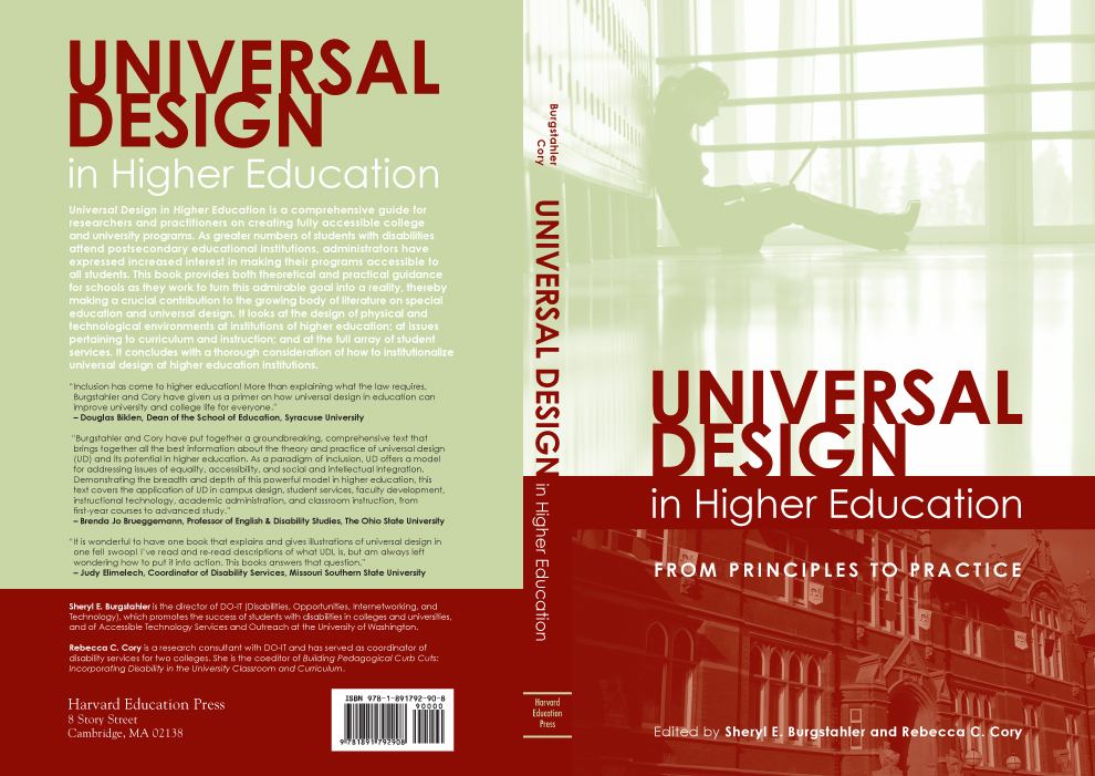 Book Cover Design Pdf : Universal design in higher education