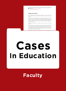 harvard higher education case studies Higher education custom programs the case for hgse campaign sign up for harvard ed news and get the latest from the harvard graduate school of education.